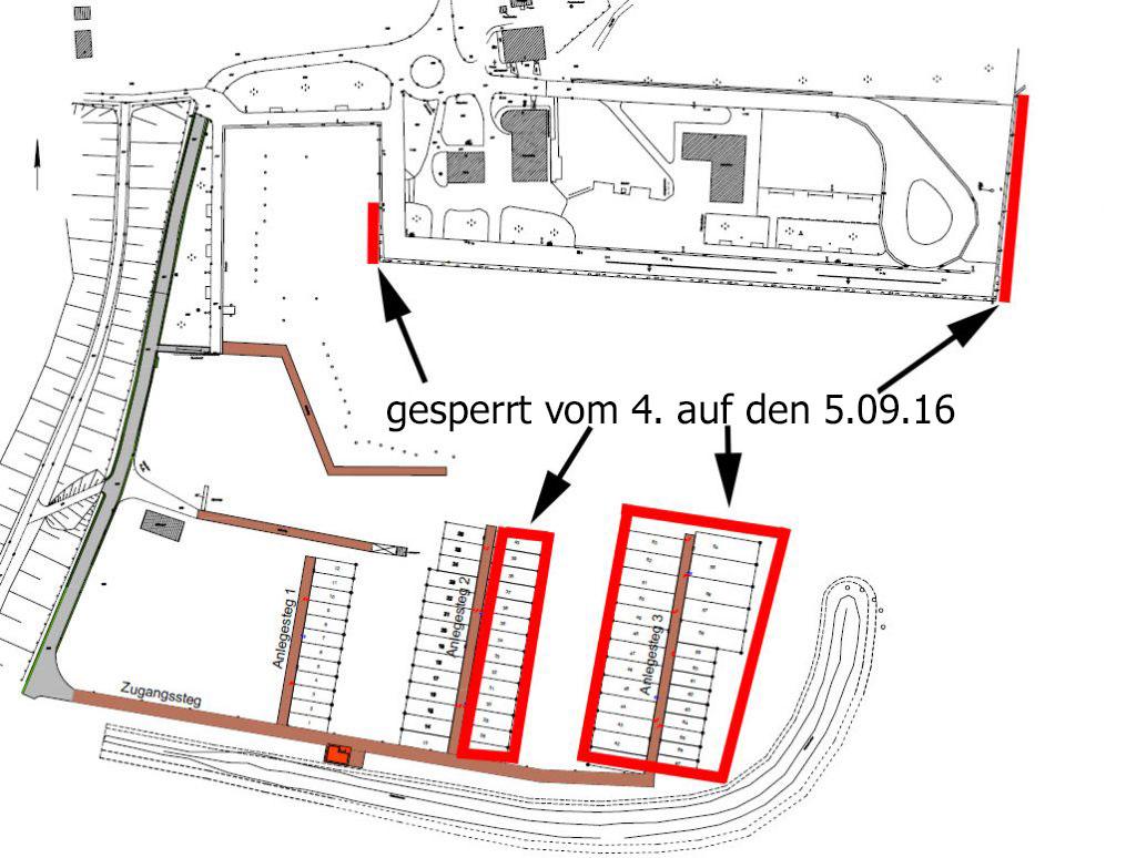 Sperrung im Seglerhafen 2016