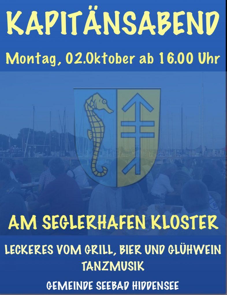 Letzter Kapitänsabend 2018 @ Seglerhafen Kloster | Insel Hiddensee | Mecklenburg-Vorpommern | Deutschland